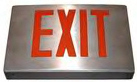 Aluminum Exit Sign; standard exit sign with aluminum housing